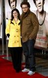 Seth Rogen und Lauren Miller lizenzfreies stockfoto