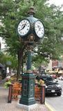 Seth Thomas Post Clock stockfotos