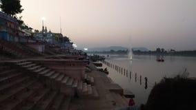 Sethani ghat Narmada river stock images