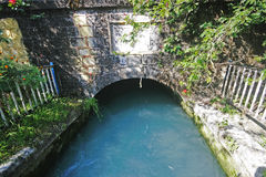 Seti Canal. A canal of water from Seti river, Pokhara Stock Photo