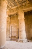 Seti I Temple, Interior. Hypostyle Court of the Ancient Egyptian Temple of Seti I, West Bank of the Nile, Luxor, Egypt Stock Photo