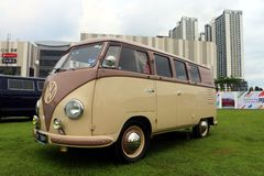 The first generation of the Volkswagen Type 2 , informally called the Microbus. Setia Alam, Selangor, Malaysia - October 14, 2018 : The first generation of the royalty free stock photo
