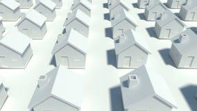 Setki domy w różnorodnym rzędzie zdjęcie wideo