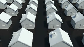 Setki domy w różnorodnym rzędzie royalty ilustracja