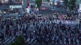 12, 2018 setki ludzie krzyżuje ulicę w Tokio Shibuya, Tokio - Japonia, Czerwiec, - zdjęcie wideo