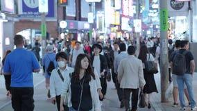 12, 2018 setki ludzie krzyżuje ulicę w Tokio Shibuya, Tokio - Japonia, Czerwiec, - zbiory