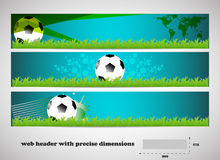 Seto of  banners, header with precise dimensions Royalty Free Stock Images