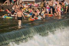 Seto Creek River y disfruta de un placer fresco del verano imagen de archivo libre de regalías