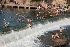 Seto Creek River y disfruta de un placer fresco del verano foto de archivo libre de regalías