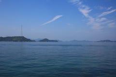 Seto Inland Sea em japão imagem de stock