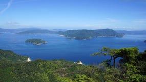Seto Inland Sea från den Miyajima ön arkivbild