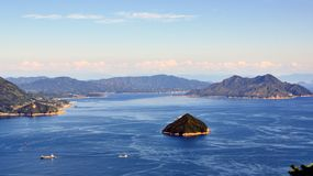 Seto Inland Sea in Japan stock image
