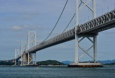 Seto Ohashi Bridge a Okayama, Giappone Fotografie Stock Libere da Diritti