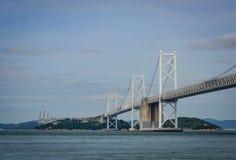Seto Ohashi Bridge in Okayama, Japan Stock Foto's