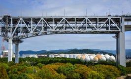 Seto Ohashi Bridge in Okayama, Japan lizenzfreie stockfotografie