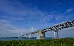 Seto Ohashi Bridge in Okayama, Japan lizenzfreie stockbilder