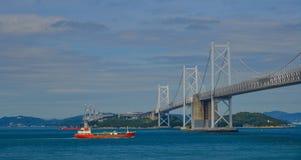 Seto Ohashi Bridge in Okayama, Japan stockfotos