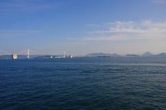 Seto Ohashi Bridge. Over Seto Inland Sea Royalty Free Stock Images