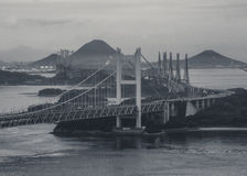 Seto Ohashi bridge which is viewed from Kurashiki Royalty Free Stock Photo
