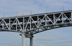 Seto Ohashi most w Okayama, Japonia Zdjęcia Royalty Free