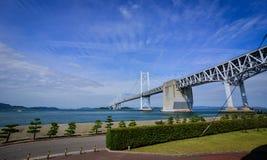 Seto Ohashi most w Okayama, Japonia obrazy stock