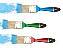 Setole con colore blu immagini stock