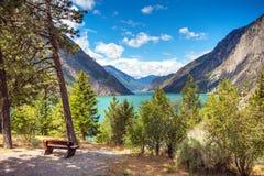 Seton Lake Reservoir B.C.Hydro British Columbia royalty free stock photo