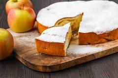 Setor pequeno cortado da torta do maná, conceito analítico da carta de torta imagens de stock