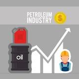Setor petroleiro ilustração do vetor