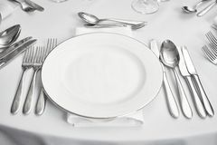 Setout de table de restaurant Image stock