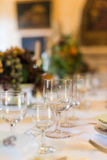 Setout table. Royalty Free Stock Images