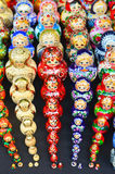 Sets av traditionell ryssdockamatryoshka Royaltyfri Bild