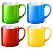 Sets of big mugs. Illustration of the sets of big mugs on a white background Royalty Free Stock Image