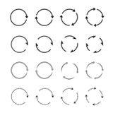 Sets of black circle arrows. Vector Icons Royalty Free Stock Photo