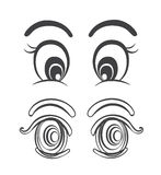 Sets of cartoon eyes vector illustrations Stock Images