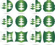 Sets Christmas tree Stock Images