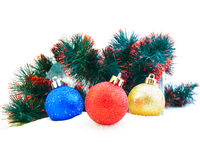 Sets Christmas-tree decorations Royalty Free Stock Photos
