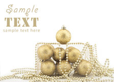 Sets Christmas-tree decorations Stock Images
