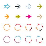 Sets of color circle arrows. Vector Icons royalty free illustration