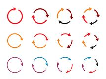 Sets of color circle arrows. Vector Icons vector illustration