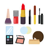 Sets of cosmetics on isolated background Royalty Free Stock Image