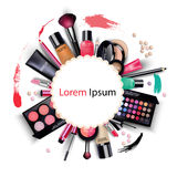 Sets of cosmetics on isolated background Royalty Free Stock Photography