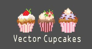 Sets of cupcakes for decoration Stock Photography