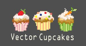 Sets of cupcakes for decoration Stock Image