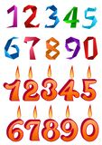 Sets of decorative numbers for holiday design Royalty Free Stock Photo