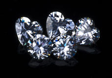 Sets of diamond jewelry. There is a set of jewelry of diamonds Royalty Free Stock Photography