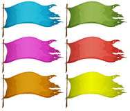 Sets of empty flags Royalty Free Stock Image