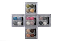 Sets of eye shadows Royalty Free Stock Photo