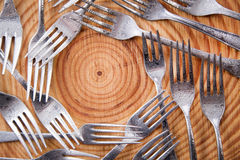 Sets of forks Stock Photo