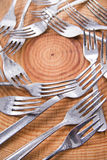 Sets of forks Royalty Free Stock Images